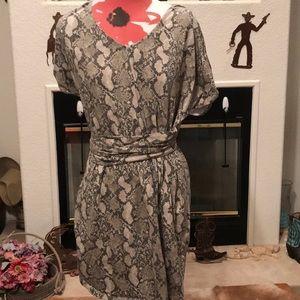 Snake print print dress!